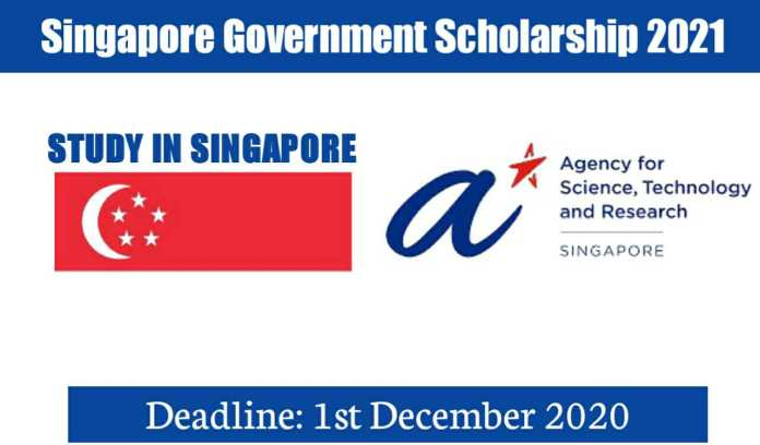 Singapore Government Scholarships 2021 Fully Funded For International Students
