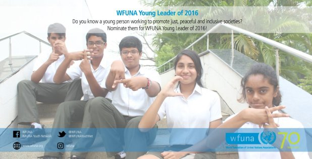 Nominations Open: WFUNA Young Leader of the Year 2016