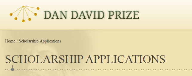 Dan David Prize Scholarships 2017