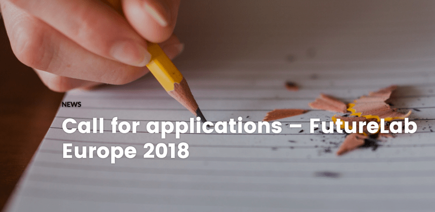 "Résultat de recherche d'images pour ""Call for Applications – FutureLab Europe Programme 2018"""