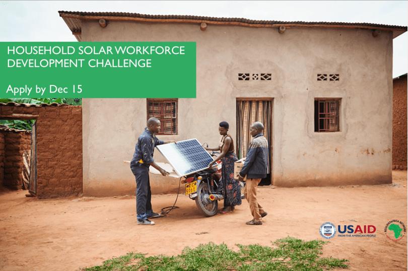 Image result for USAID Household Solar Workforce Development Challenge (Upto $350,000)