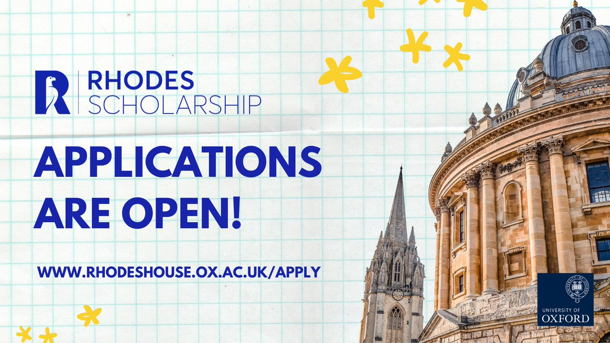 Apply for Rhodes Scholarship 2021 to study at the University of Oxford  (fully-funded)   Opportunity Desk
