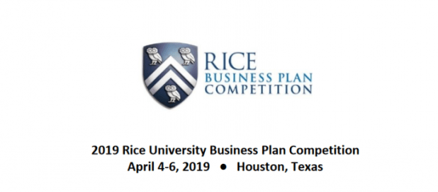 Rice University Business Plan Graduate-level Student Startup Competition 2019 ($1.5 million in Cash and Prizes).