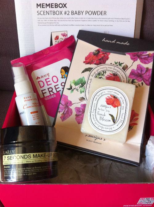 memebox korean beauty box baby powder