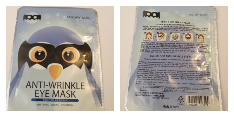 luxury soo anti wrinkle eye mask