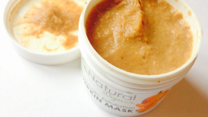 Pumpkin Mask from IQ Natural - organic exfoliating mask from the USA-