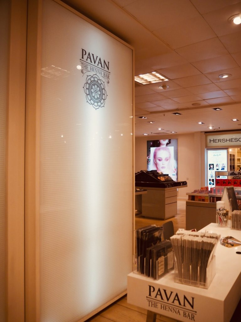 Pavan Henna bar Selfridges