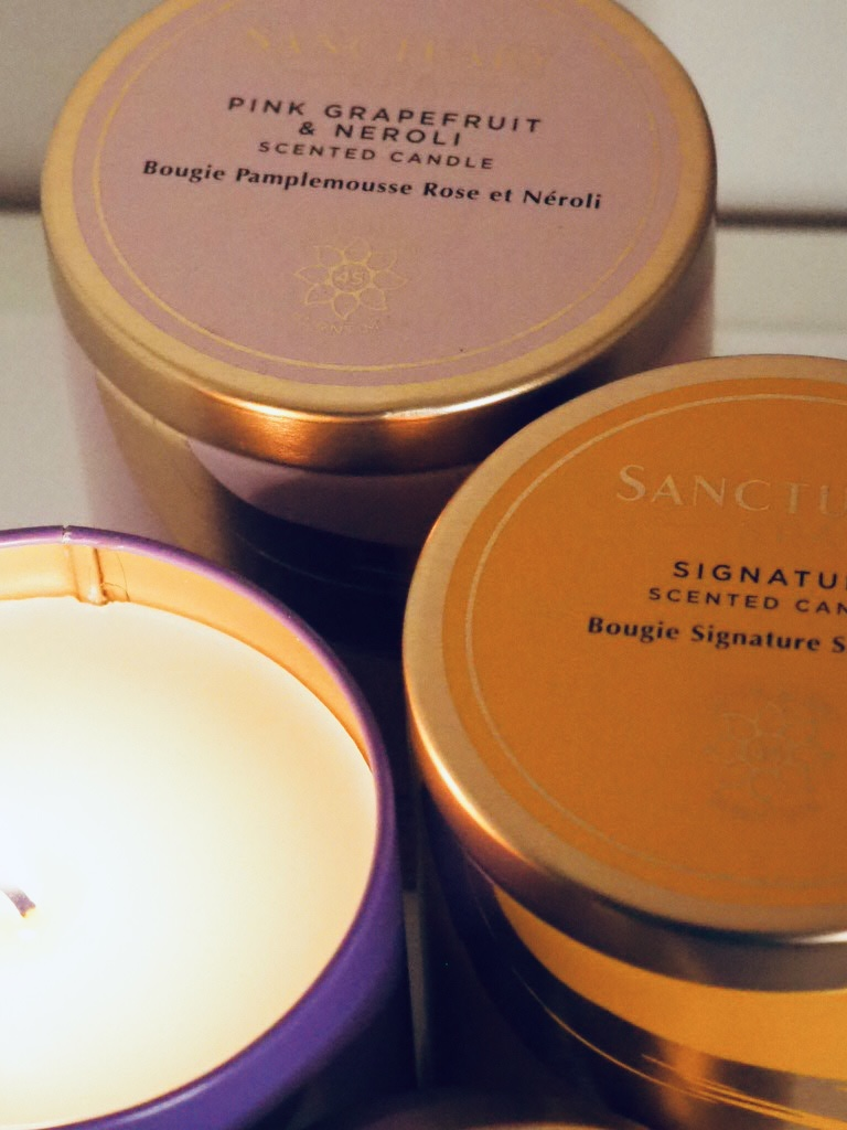 Sanctuary Spa scented candles