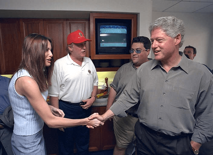 Melania finally holds hands with the President