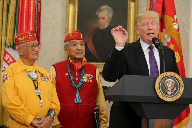 Donald Trump has a long history of insulting Native Americans