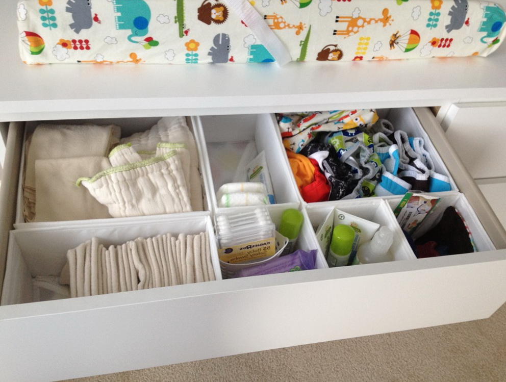 Changing Table Drawer Organizer