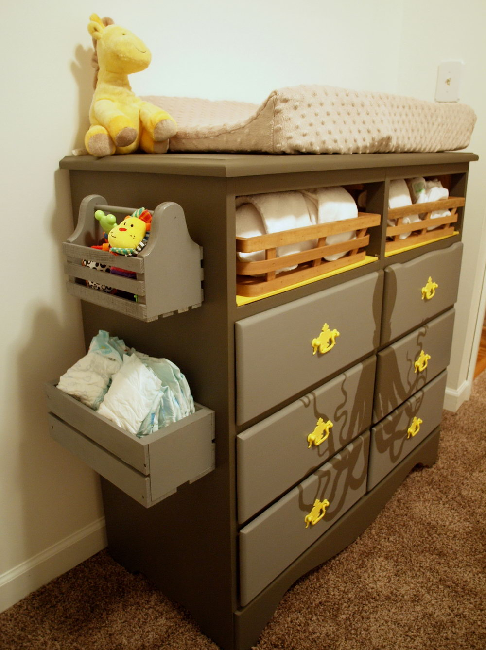 Changing Table Side Organizer