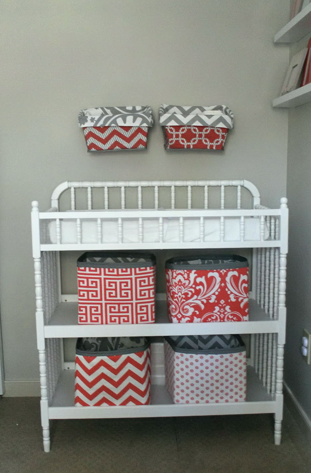 Changing Table Wall Organizer