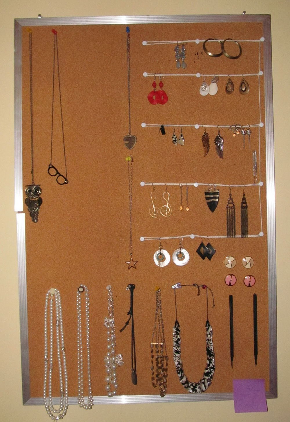 Diy Jewelry Organizer Cork Board