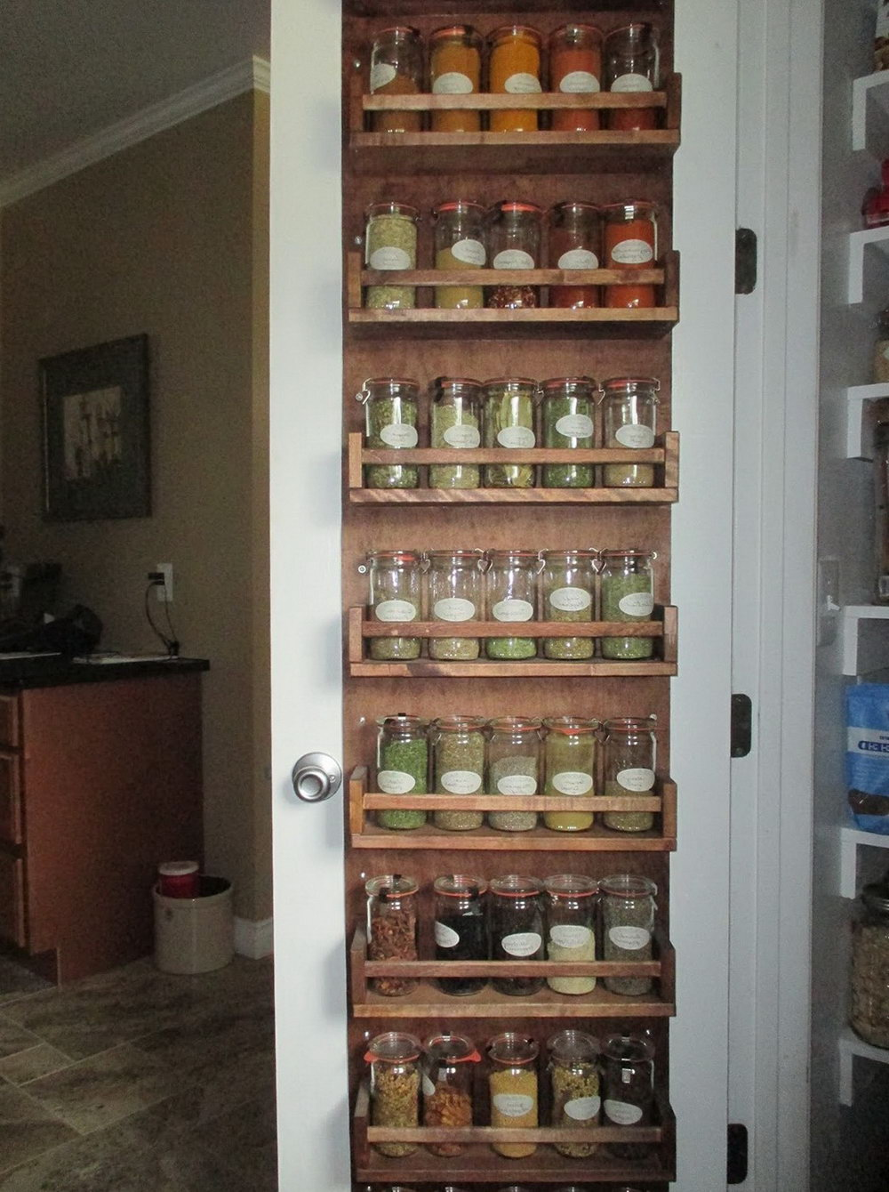 Door Spice Rack Organizer
