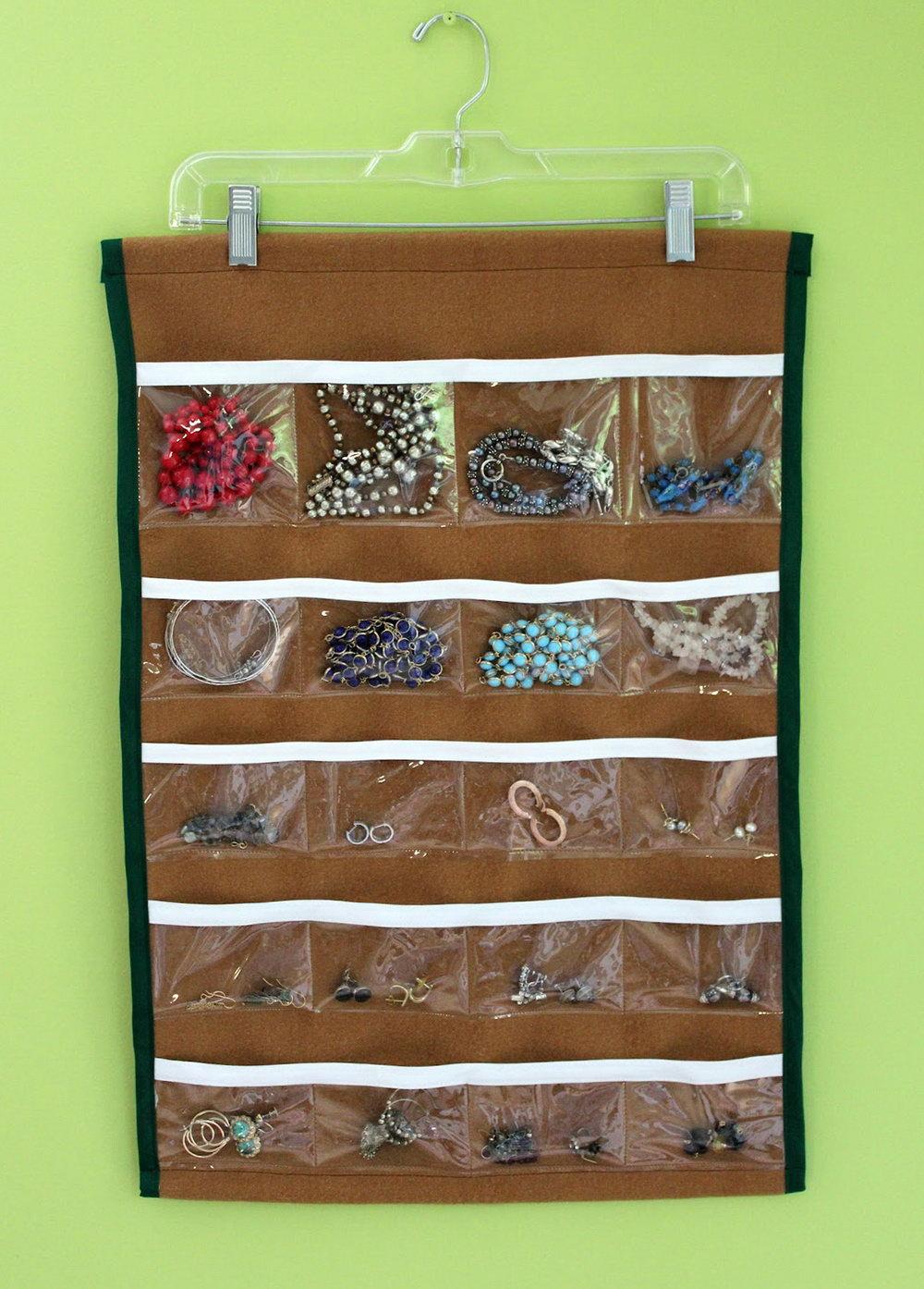 Hanging Jewelry Organizer With Pockets