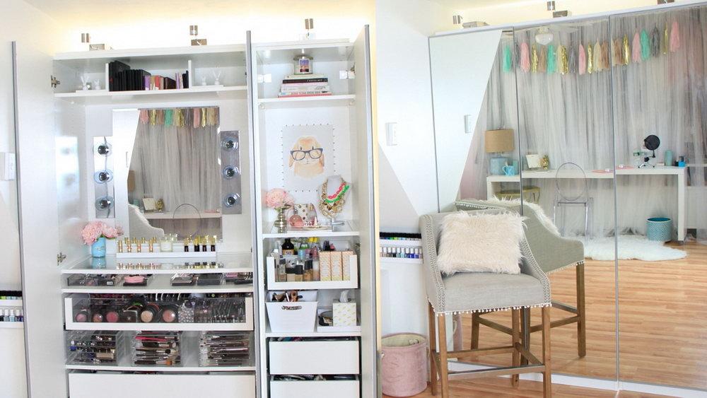 Vanity Makeup Organizer Ideas Modern Large