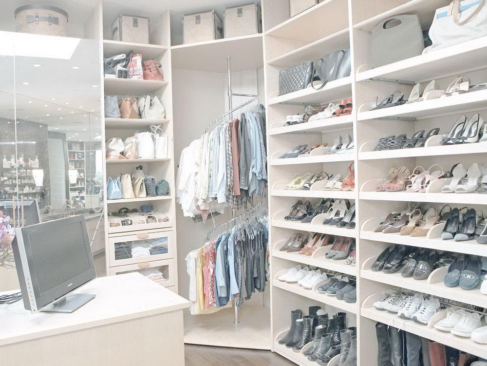 Lazy Susan Closet Shoe Organizer