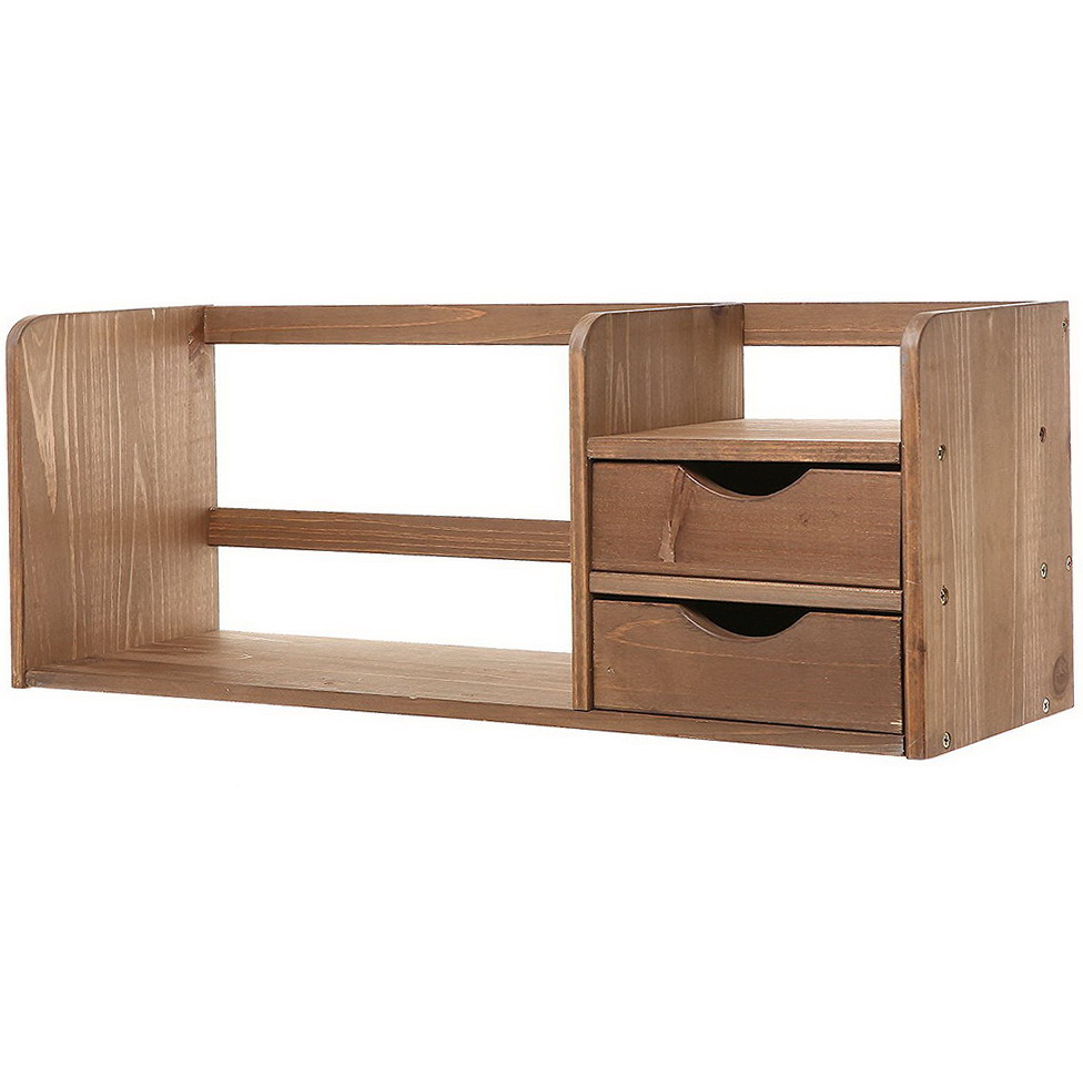 Small Wood Desk Organizer
