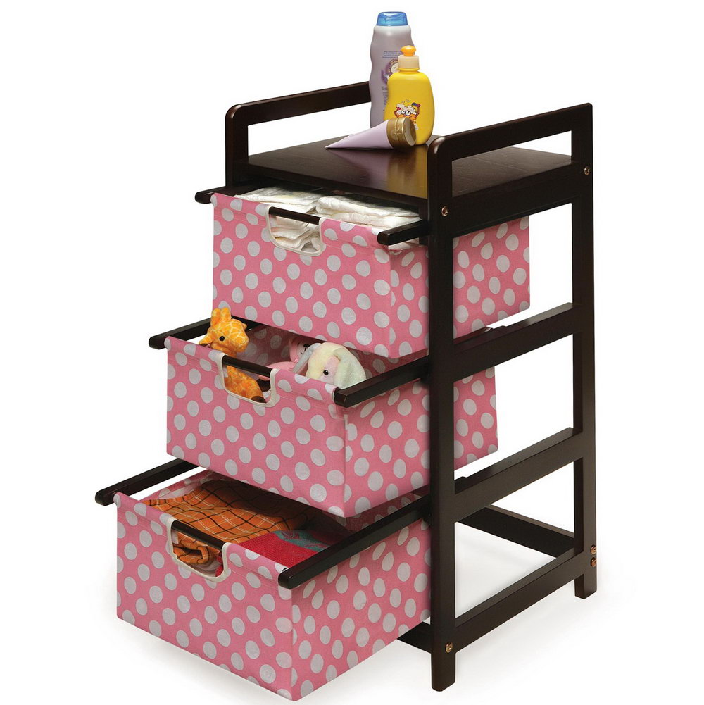 Tot Tutors Toy Organizer Espresso Finish