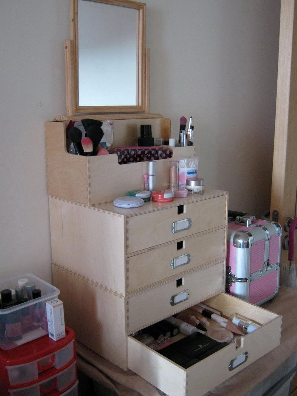 Wooden Desk Drawer Organizer