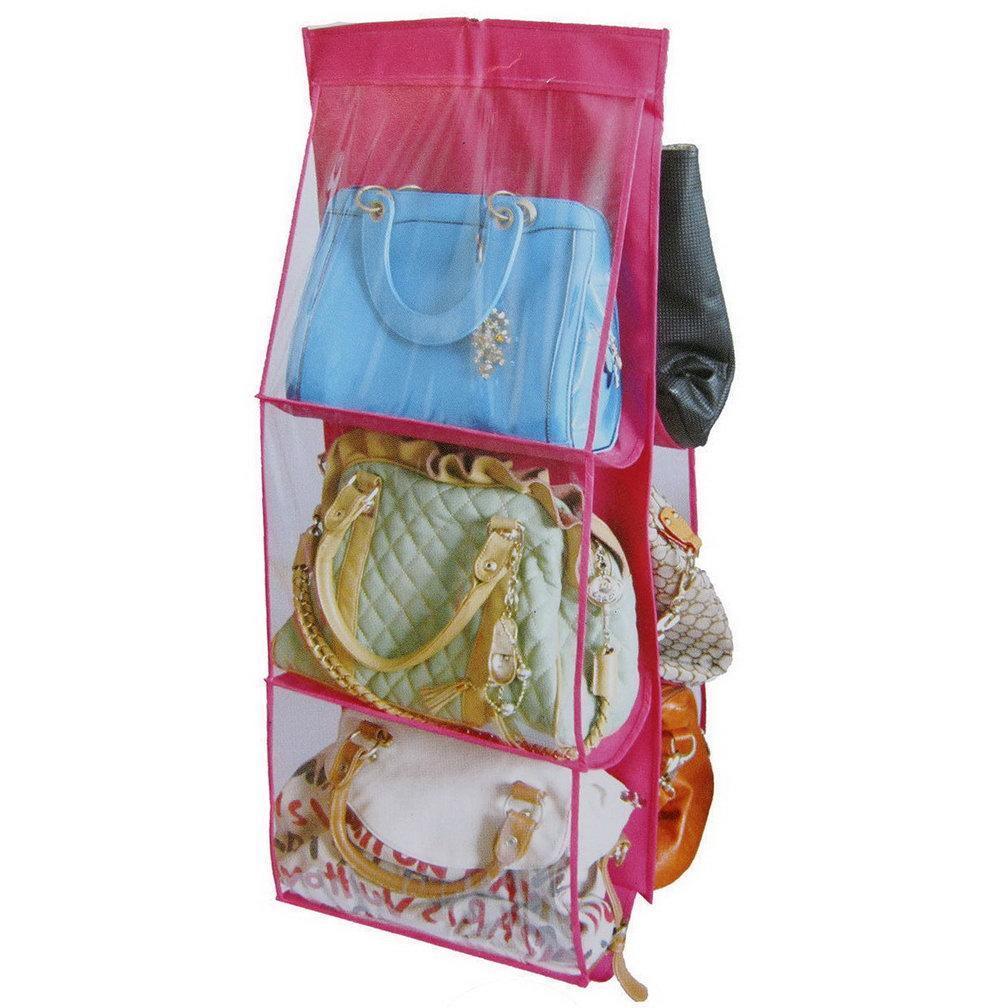 6 Pocket Hanging Purse Organizer