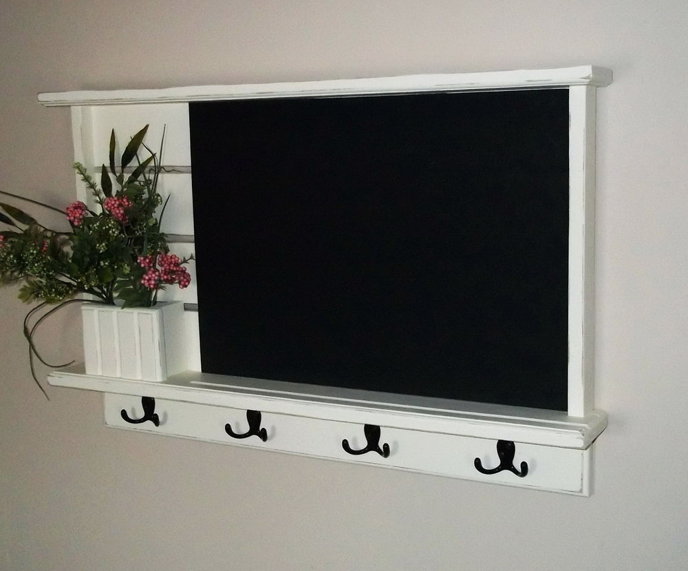 Chalkboard Mail Organizer And Key Holder