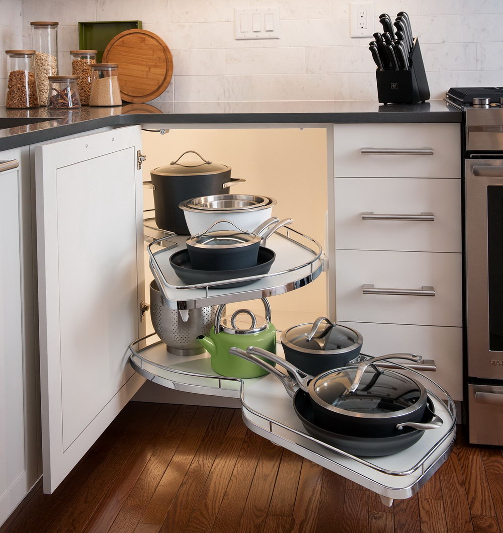 Pull Out Basket Cabinet Organizer