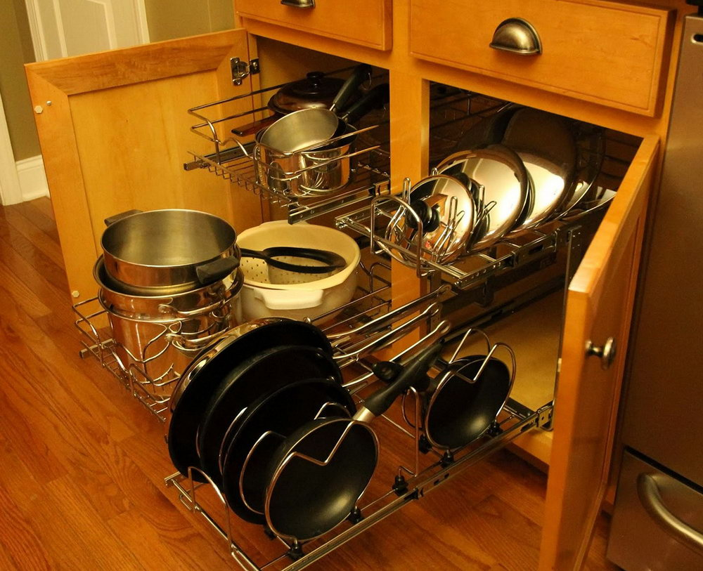 Pull Out Cabinet Organizers For Pots And Pans