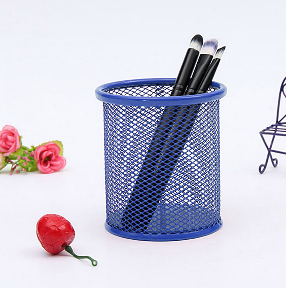 Purple Mesh Desk Organizer