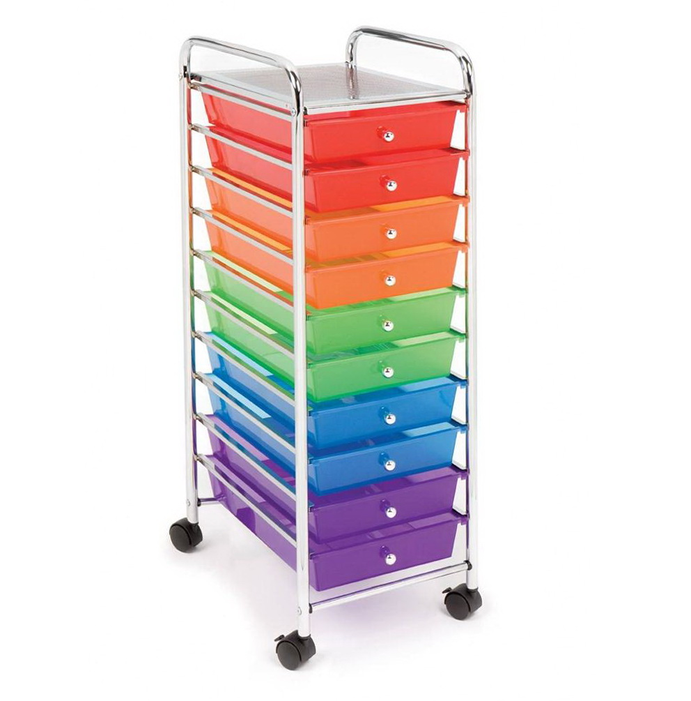 Rolling Cart Organizer With Drawers