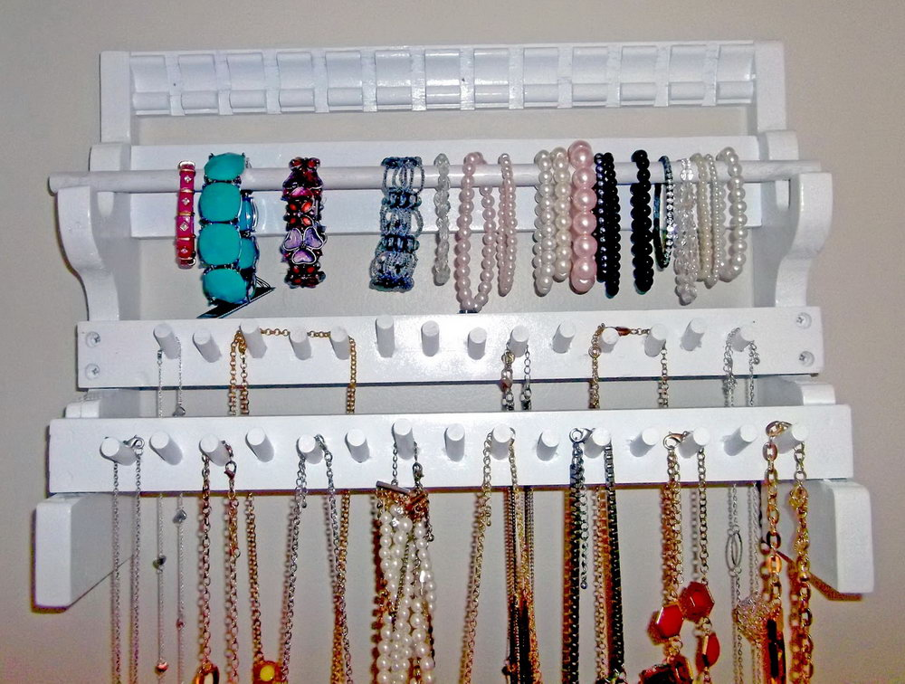 Wall Hanging Jewelry Organizer Diy