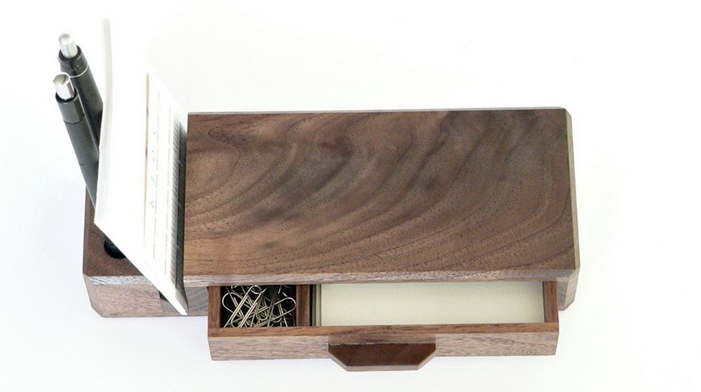 Wooden Desk Caddy Organizer