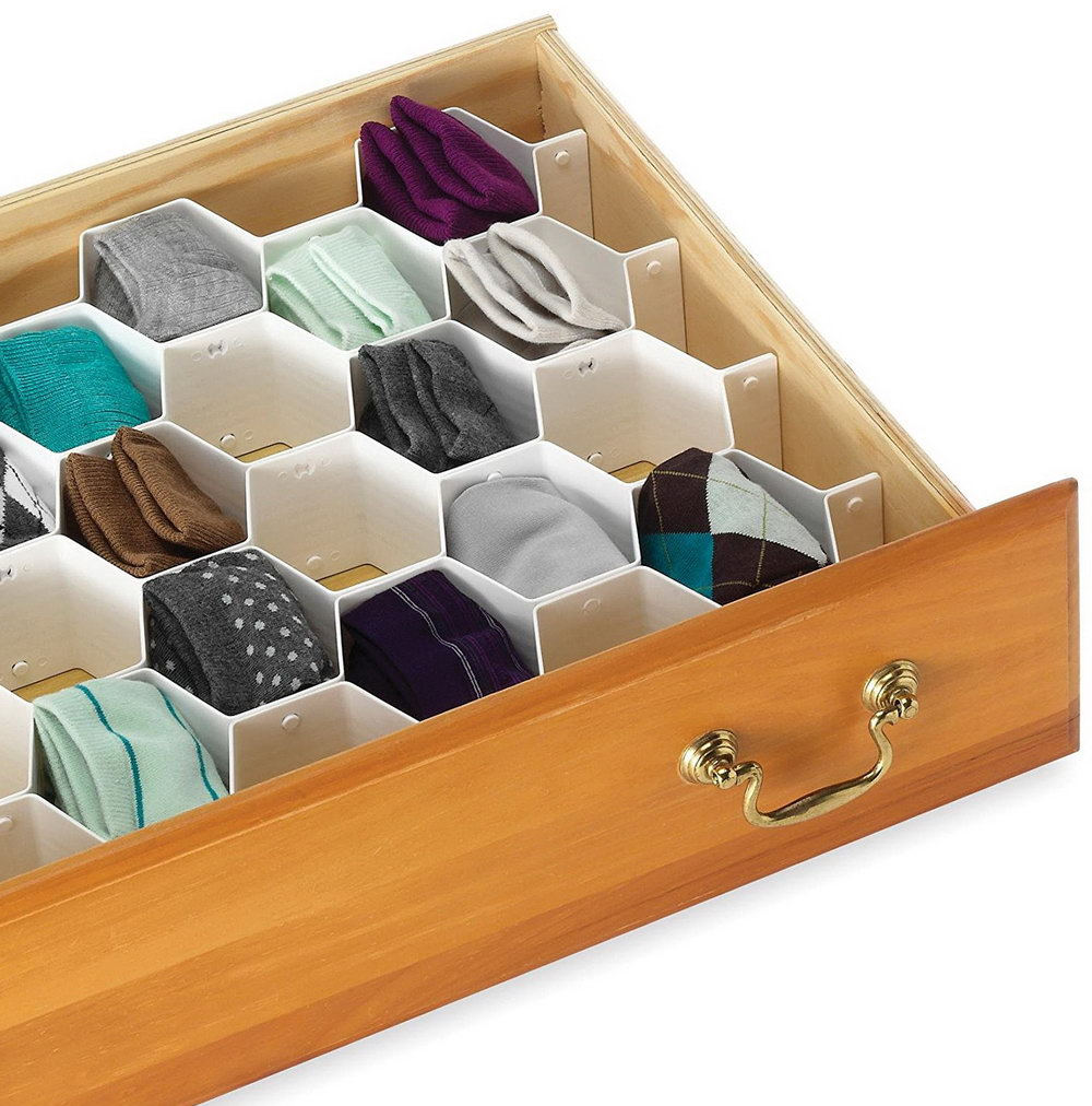 Diamond Drawer Organizer For Socks