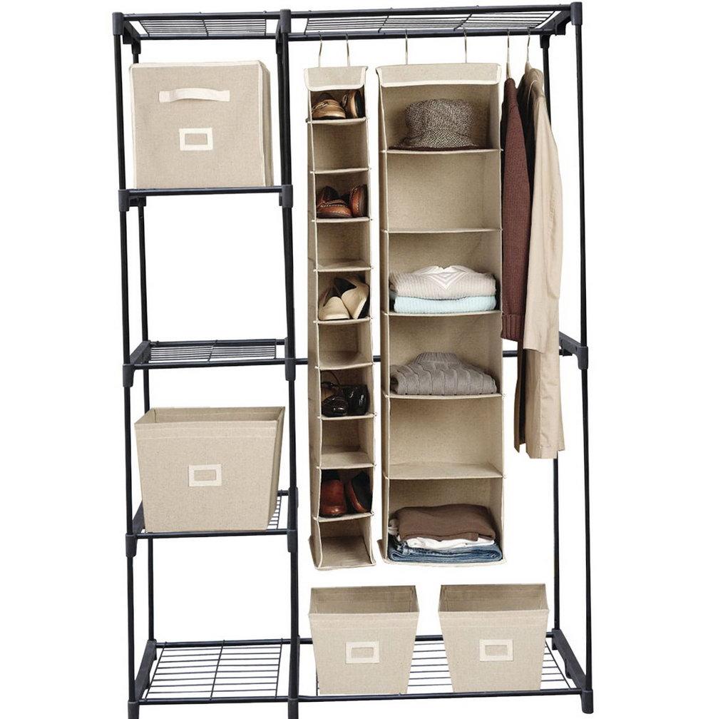 Double Hanging Closet Organizer Instructions