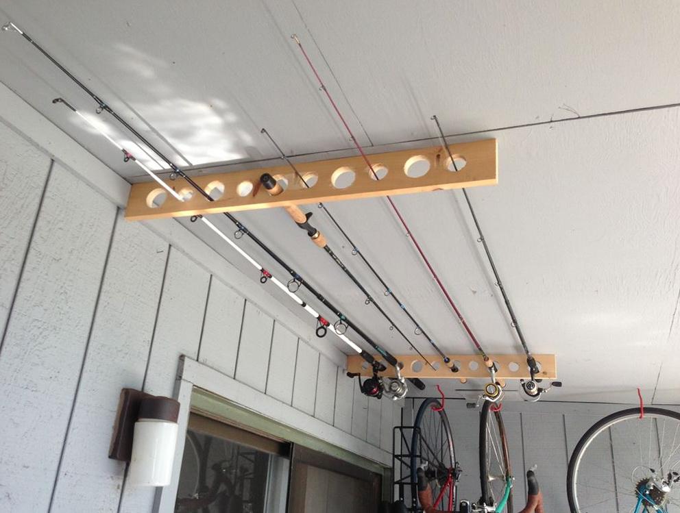 Fishing Pole Organizer Garage