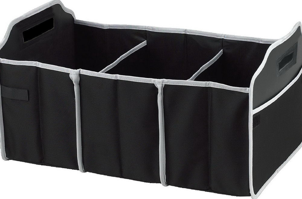 Folding Trunk Organizer With Collapsible Cooler Compartment