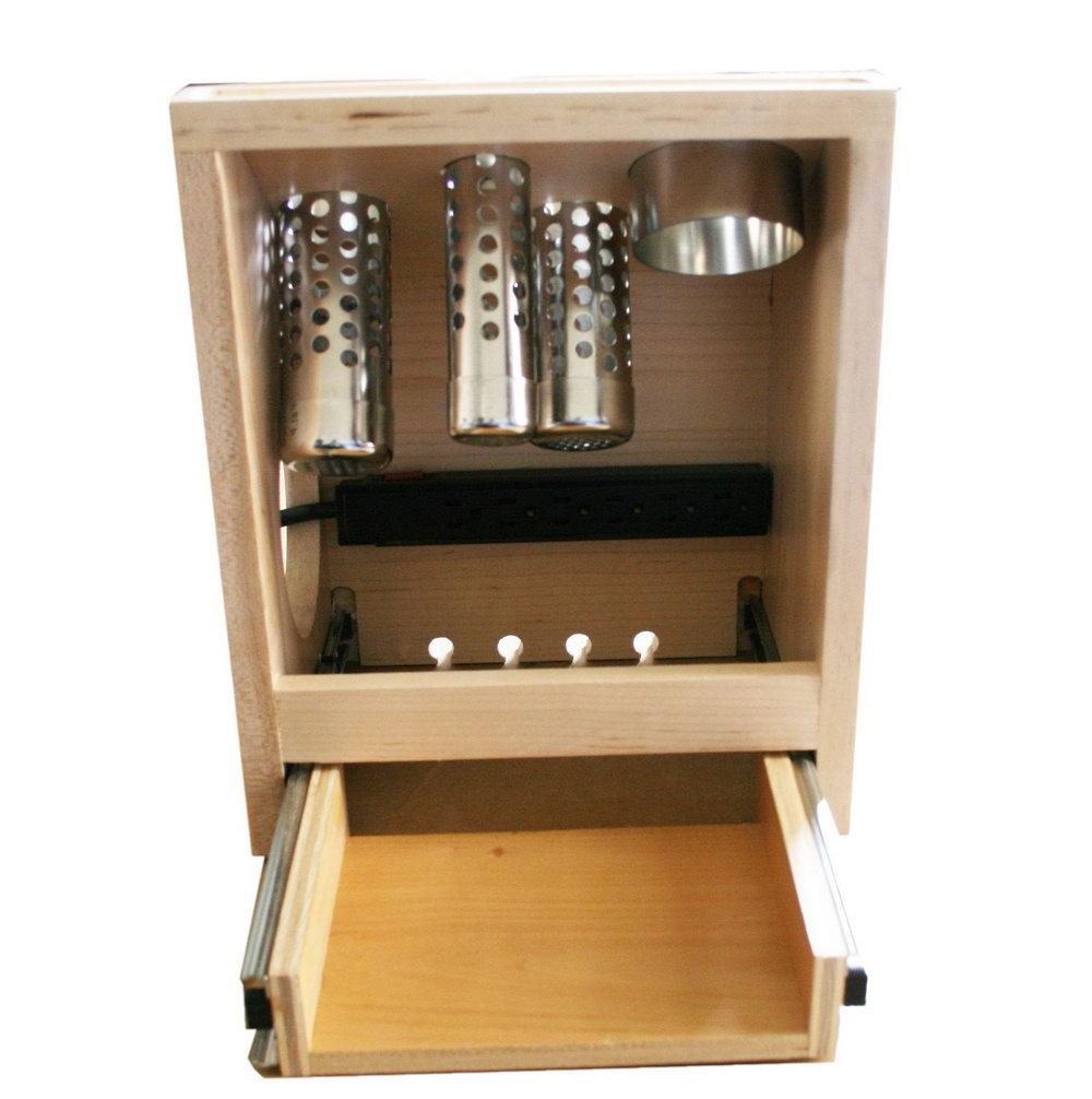 Hair Appliance Organizer Cabinet