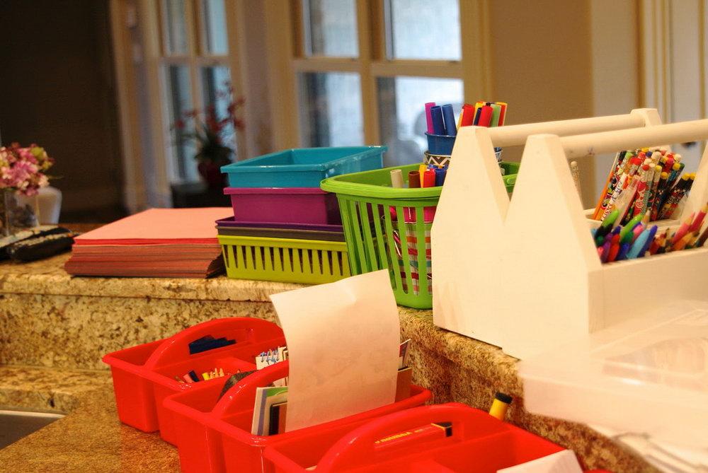Kids Art Supplies Organizer