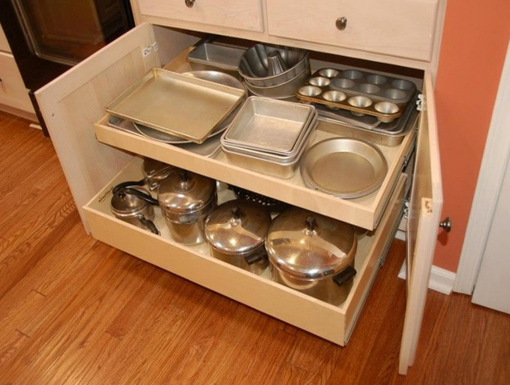 Kitchen Cabinet Pull Out Drawer Organizers