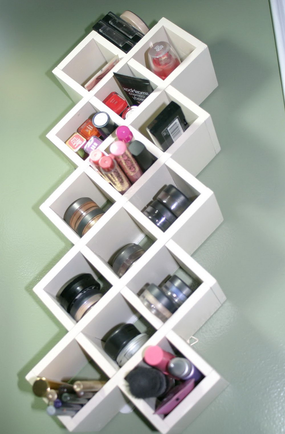Makeup Wall Organizer Ideas