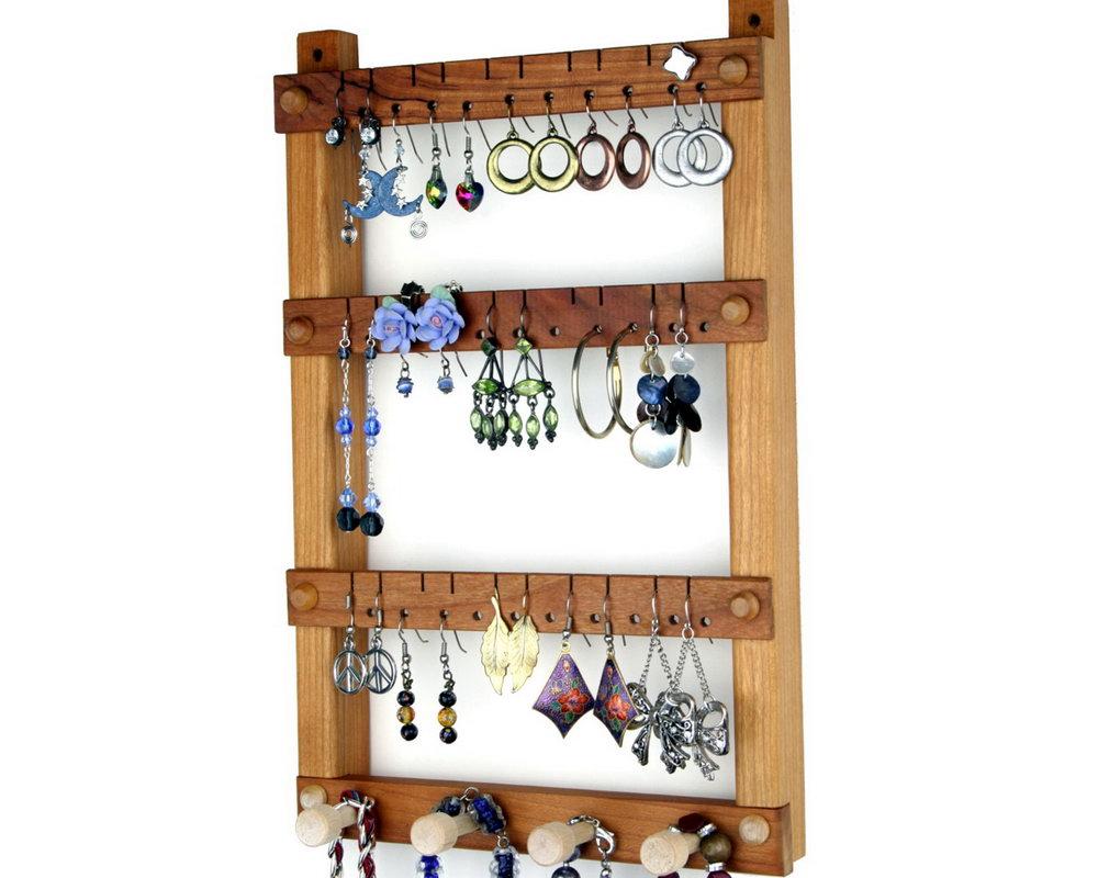 Wooden Jewelry Organizer Hanging