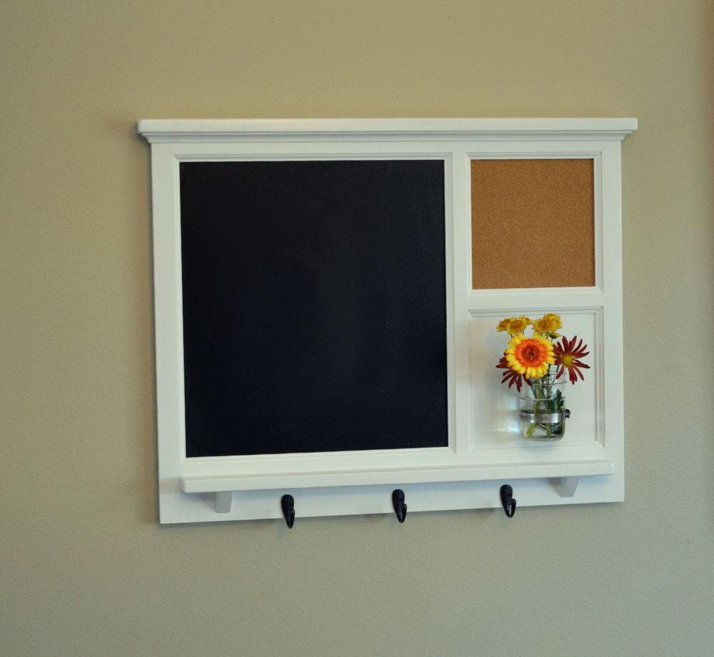 Chalkboard Cork Board Organizer
