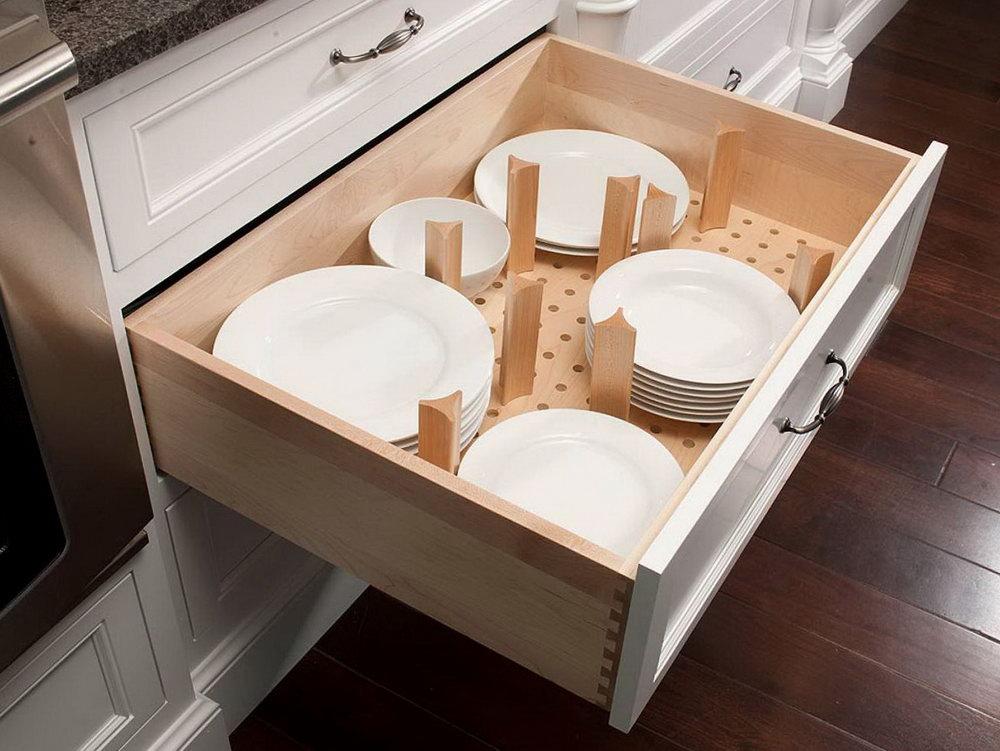 Kitchen Cabinet Plate Organizers