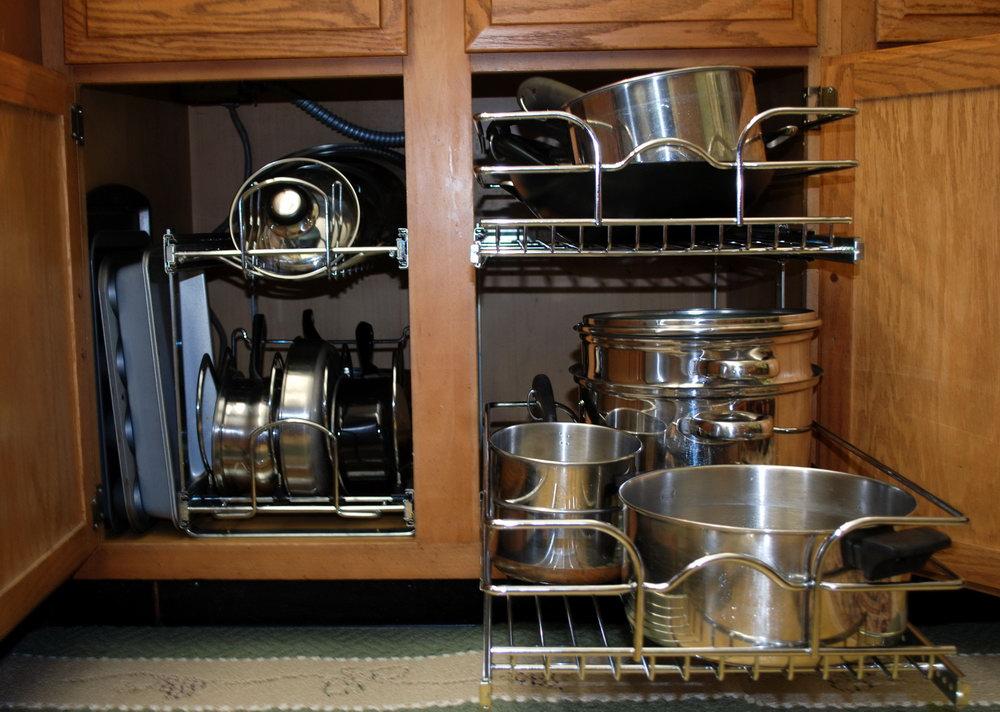 Kitchen Cabinet Pot Organizer