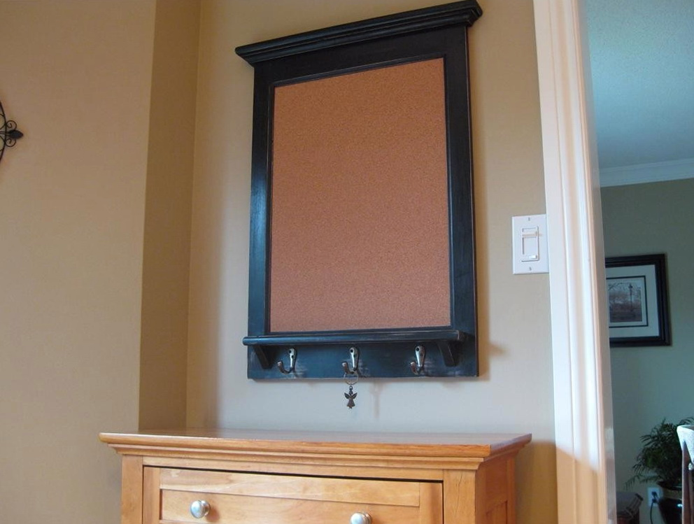 Kitchen Cork Board Organizer