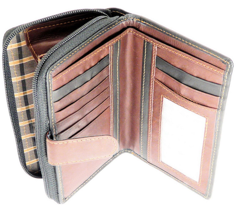 Leather Organizer Purse With Credit Card Slots