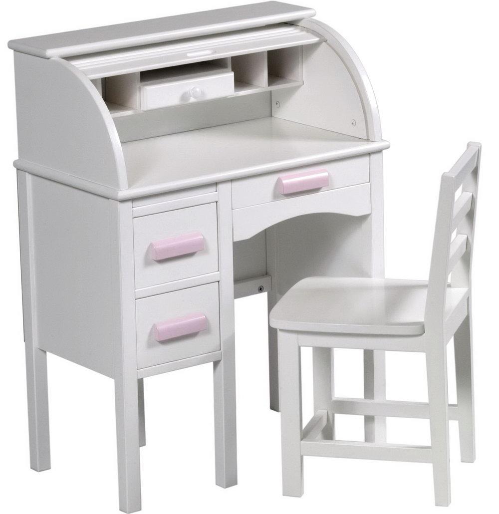 Roll Top Desk Organizer White