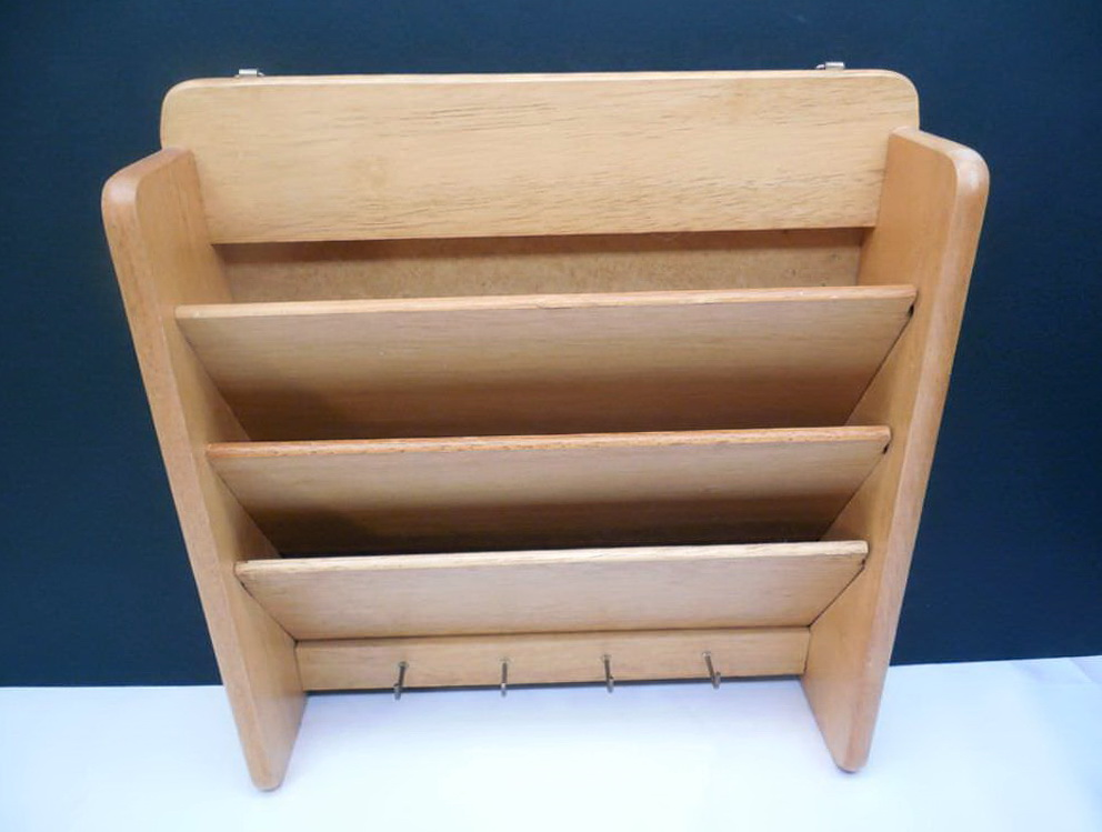 Wooden Wall Pocket Organizer