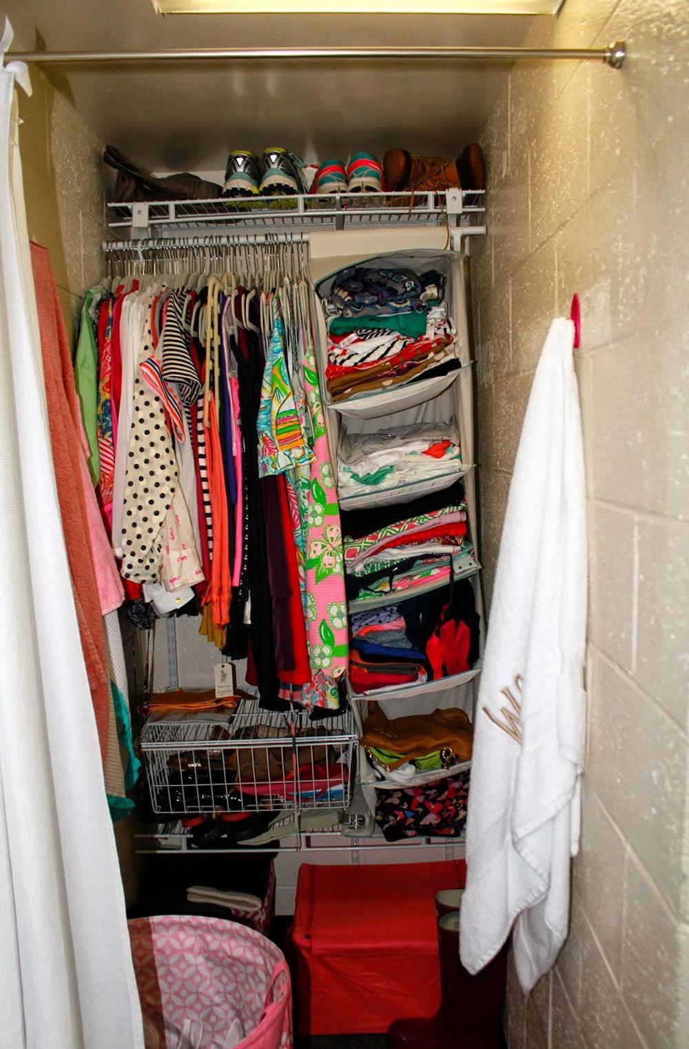 College Dorm Closet Organization Tips